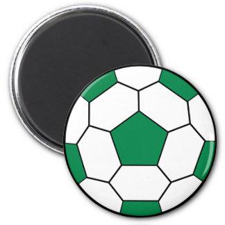 Imán del verde del balón de fútbol
