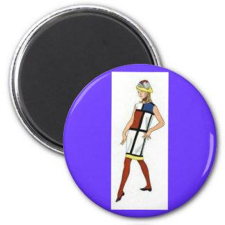 Imán del vestido de Colorblock de los años 60