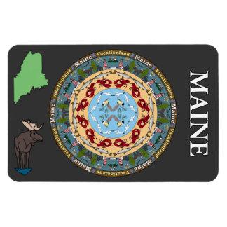Imán del vinilo de la mandala del estado de Maine