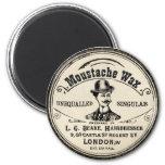 Imán del vintage de la cera de Mustach del bigote
