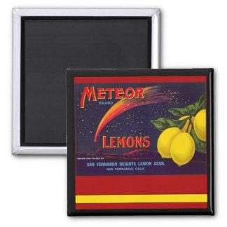 Imán del vintage de los limones de California