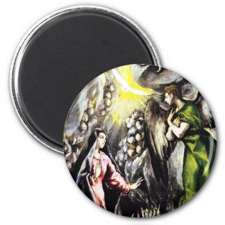 Imán del Virgen María del anuncio de El Greco