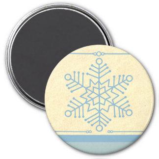 Imán delicado del navidad del copo de nieve