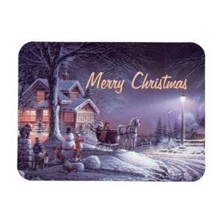 Imán delicioso de las Felices Navidad del vintage