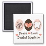 Imán dental de la higiene del amor de la paz