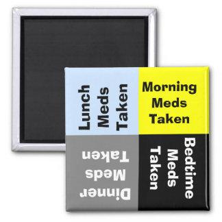 Imán diario del recordatorio de la medicación