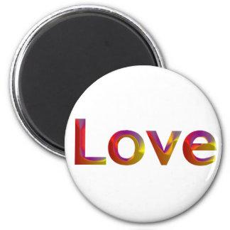 Imán dimensional del amor del arco iris