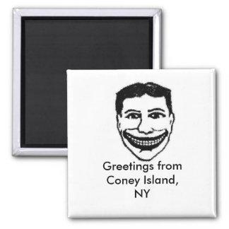 Imán divertido Coney Island de la cara