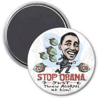 Imán divertido de Anti-Obama de la BELLOTA