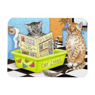 Imán divertido de Flexi del gato 464