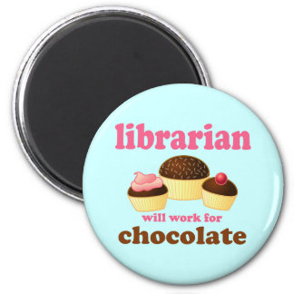 Imán divertido del bibliotecario