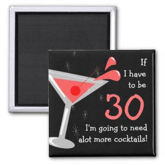 Imán divertido del cóctel de Martini del cumpleaño