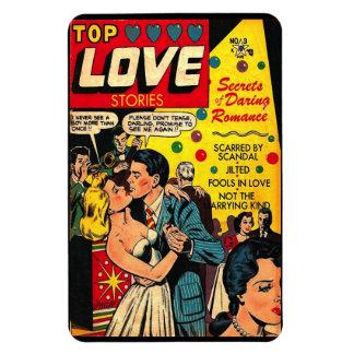 """Imán divertido del cómic de las """"historias de amor"""