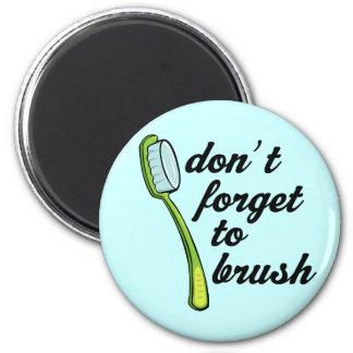 Imán divertido del dentista del cepillo de dientes