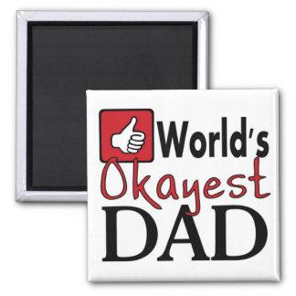 Imán divertido del día de padre del papá más okaye