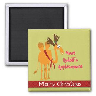 Imán divertido del navidad - camello en juego del