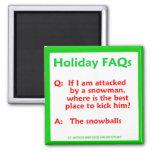 Imán divertido del navidad de los FAQ del día de