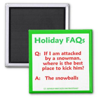 Imán divertido del navidad de los FAQ del día de f