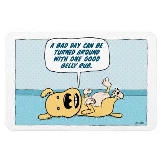Imán divertido del perro de la frotación del Belly