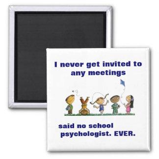 Imán divertido del psicólogo de la escuela