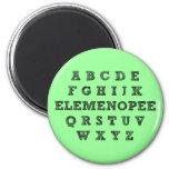 Imán divertido del refrigerador del alfabeto de El