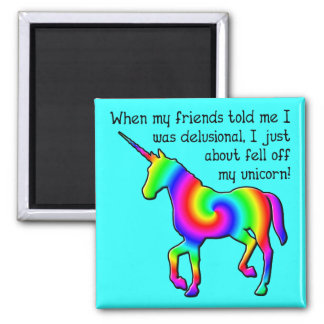 Imán divertido del refrigerador del unicornio