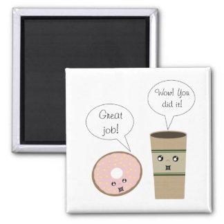Imán elogioso del café y del buñuelo