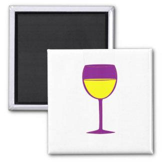 Imán elogioso del vino - púrpura y amarillo