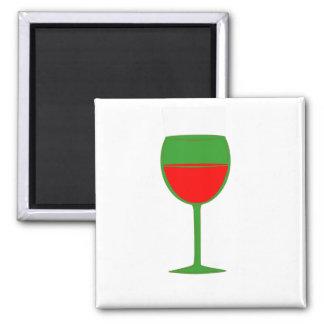 Imán elogioso del vino - rojo verde