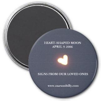 imán en forma de corazón de la luna