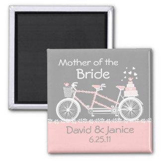 Imán en tándem del recuerdo del boda de la bicicle