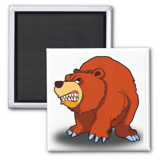Imán enojado del oso