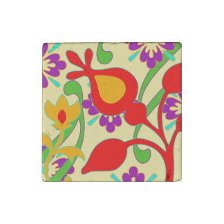 Imán enrrollado colorido brillante de las flores imán de piedra