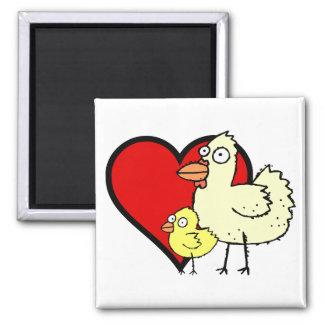 Imán enrrollado de la mamá del corazón del pollo y