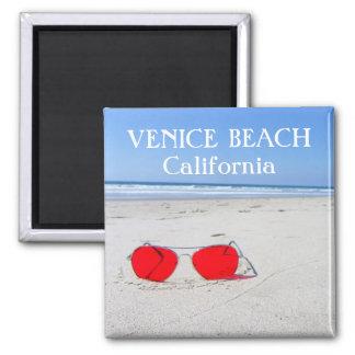 ¡Imán enrrollado de la playa de Venecia! Imán Cuadrado