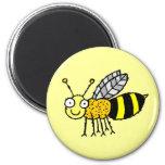 Imán enrrollado del refrigerador de la abeja de la