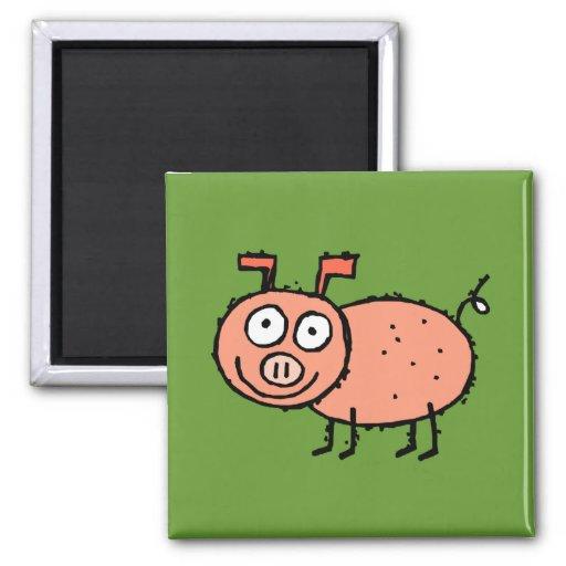 Imán enrrollado del refrigerador del cerdo de la g