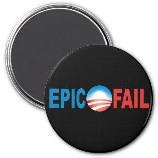 Imán épico del fall de Anti-Obama