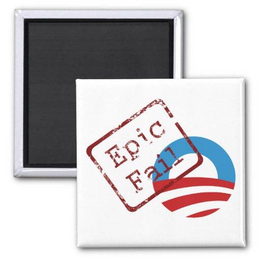Imán épico del fall de Obama