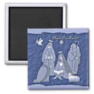 Imán Escena-Azul de la natividad