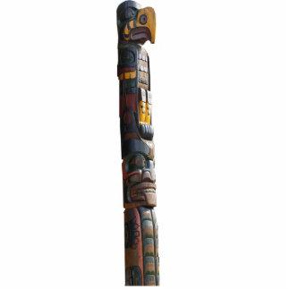 Imán esculpido tótem místico del nativo americano escultura fotográfica