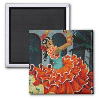 Imán español del bailarín del flamenco