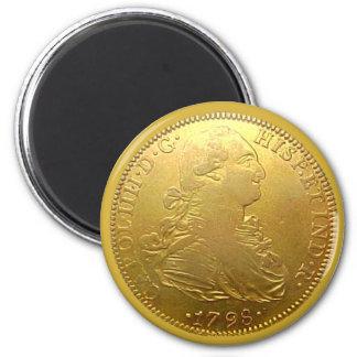Imán español del doblón del oro