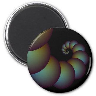 Imán espiral de las esferas