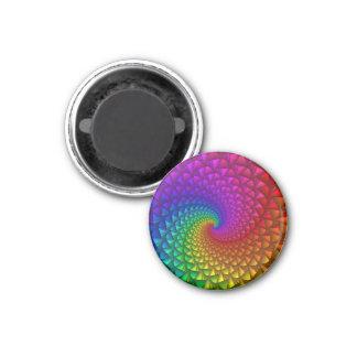 Imán espiral de los puntos del arco iris