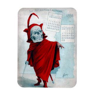 Imán esquelético del diablo del calendario de Anti