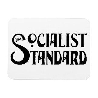 Imán estándar socialista del blanco del logotipo