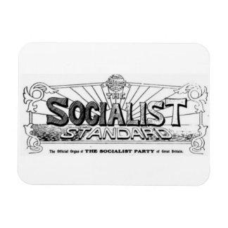 Imán estándar socialista del logotipo de los años