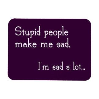 Imán estúpido divertido de la gente