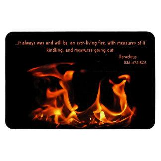 Imán eterno del fuego de Heraclitus